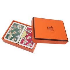 Hermès Mini Playing Cards With Hound Dog Motif