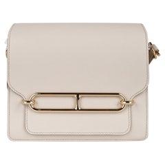 Hermes Mini Roulis Bag Beton Permabrass Hardware Evercolor Leather New w/Box