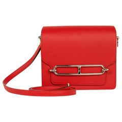 Hermes Mini Roulis Bag Rouge Casaque (Convertible Shoulder to Crossbody)