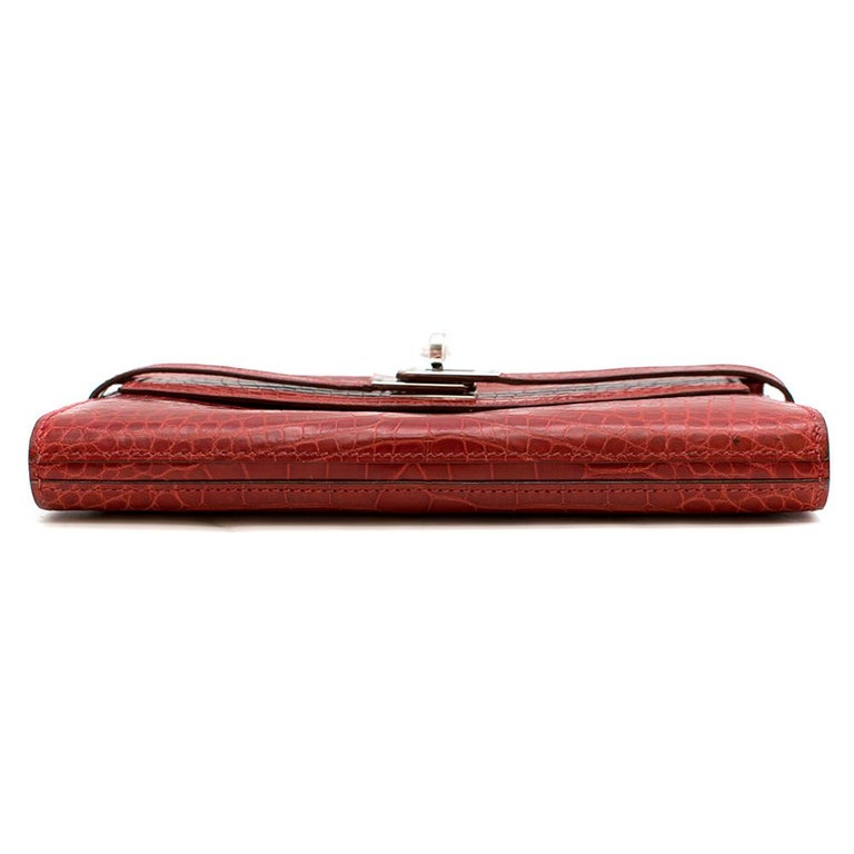 Women's Hermes Mississippiensis Braise Kelly Classic Wallet	 For Sale