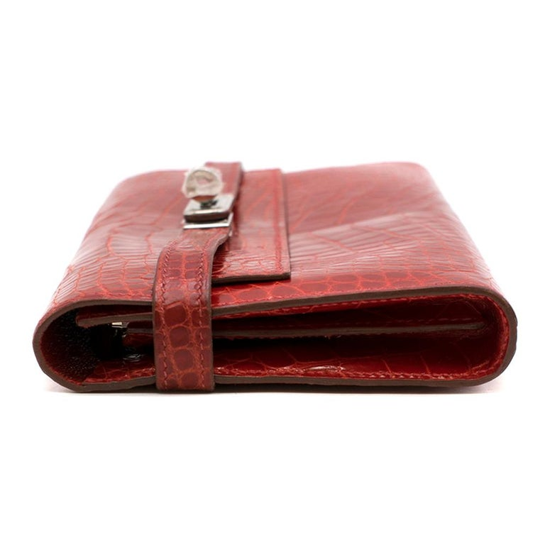 Hermes Mississippiensis Braise Kelly Classic Wallet	 For Sale 1