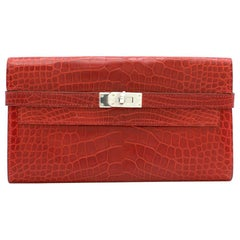 Hermes Mississippiensis Braise Kelly Classic Wallet