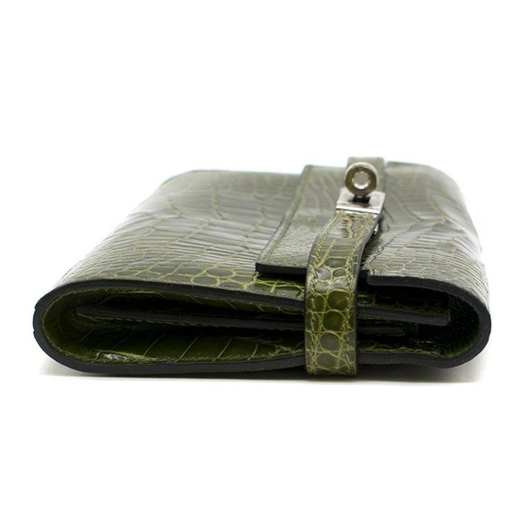Hermes Mississippiensis Vert Veronese Kelly Classic Wallet 1