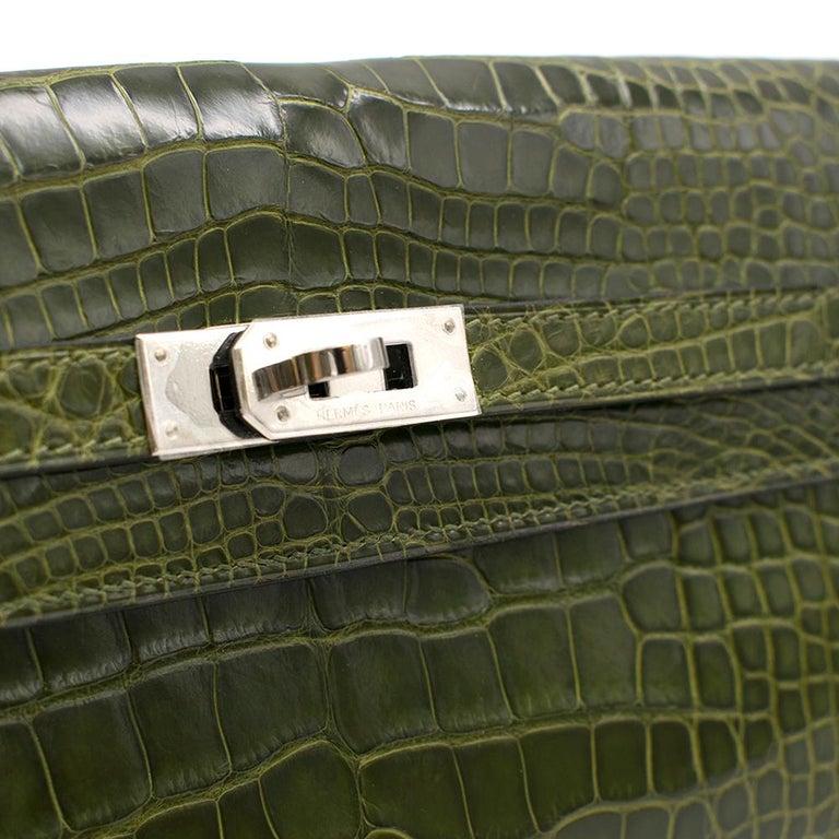 Hermes Mississippiensis Vert Veronese Kelly Classic Wallet 2