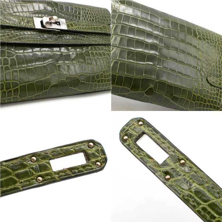 Hermes Mississippiensis Vert Veronese Kelly Classic Wallet 3