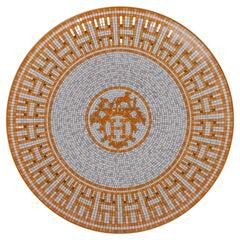 Hermes Mosaique Au 24 Dessert Plate Gold New w/Box