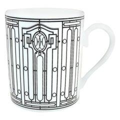 HERMES mug H Deco H Deco Other accessories white x black