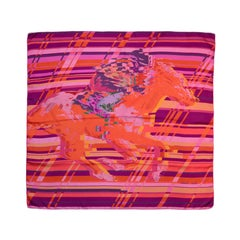 "Hermes Multi-color Pink Dip Dye Photo Finish 90cm/ 36"" Silk Scarf"