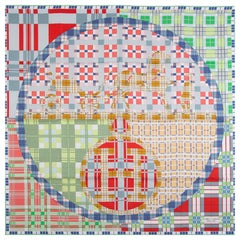 Hermes multicolor EX-LIBRIS A CARREAUX 90 silk twill Scarf