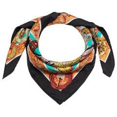 Hermes Multicolor Le Songe De La Licorne Silk Twill Square Scarf