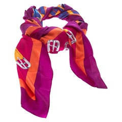 Hermes Multicolor Mors A Jouets Printed Silk Square Scarf