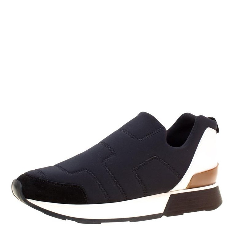 458af002c60 ... Neoprene and Leather Slip On Sneakers Size 37 For Sale. Hermes is known  for their sophisticated designs. The exterior of these sneakers has been  crafted