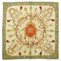 Hermes Multicolor Printed Silk Scarf