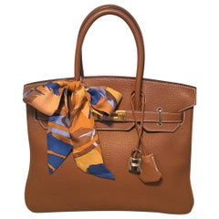 Hermes Natural Tan Togo GHW 30cm Birkin Bag