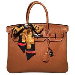 Hermes Natural Tan Togo Leather 35 cm Birkin Bag