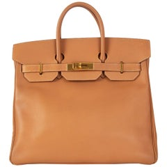 HERMES Naturel beige Epsom leather HAUT A COURROIES 32 HAC Bag