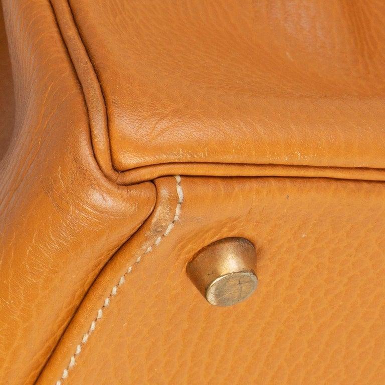 HERMES Naturelle beige Ardennes leather & Gold KELLY II 35 RETOURNER Bag For Sale 3