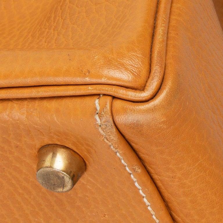 HERMES Naturelle beige Ardennes leather & Gold KELLY II 35 RETOURNER Bag For Sale 4
