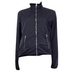 HERMES navy blue nylon WINDBREAKER Jacket XL
