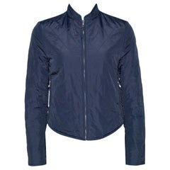 Hermes Navy Blue Quilted Reversible Jacket XS