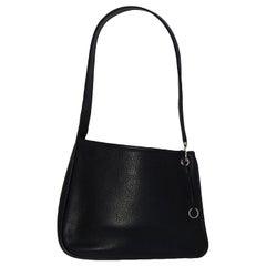 Hermes Navy Clemence Leather Shoulder Bag