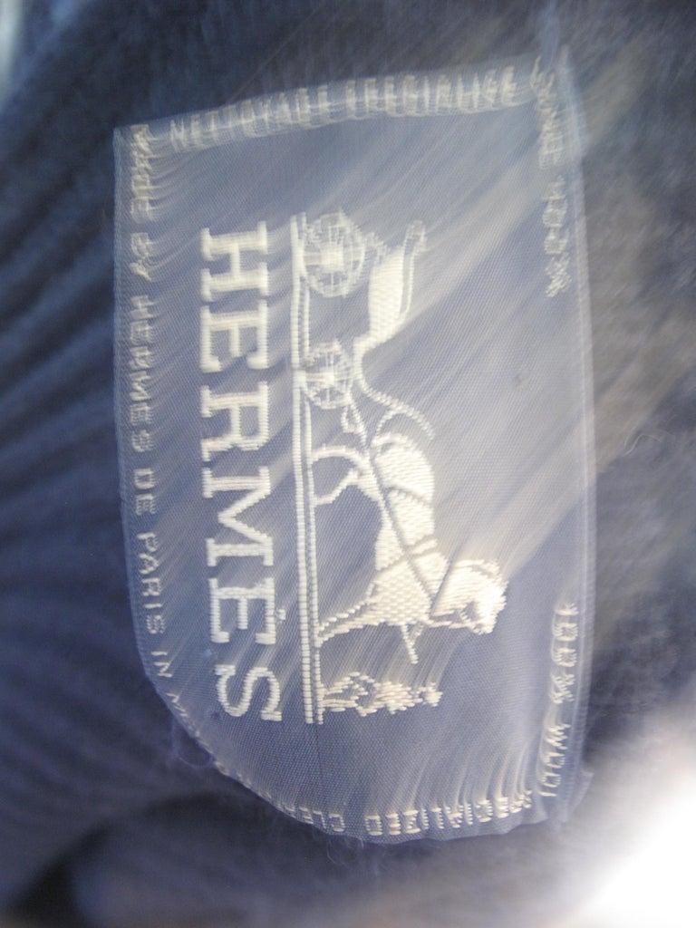 Women's or Men's Hermes Navy Knit Cardigan
