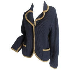 Hermes Navy Knit Cardigan