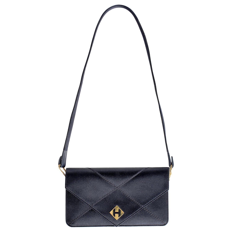 Hermès Navy Satin Evening Bag