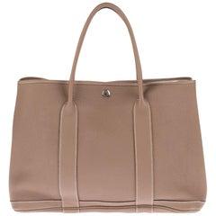 HERMES Negonda Garden Party 36 MM Etoupe handbag in very good condition !