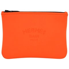 Hermes Neobain Case / Flat Pouch Orange Small New