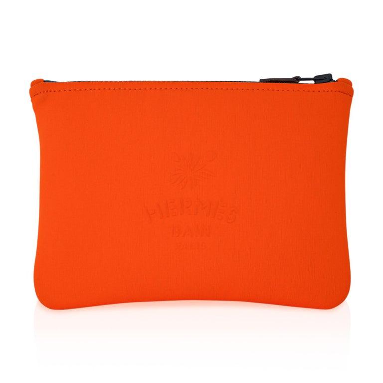 Hermes Neobain Les Leopard Embossed Orange Case  Small Model For Sale 3
