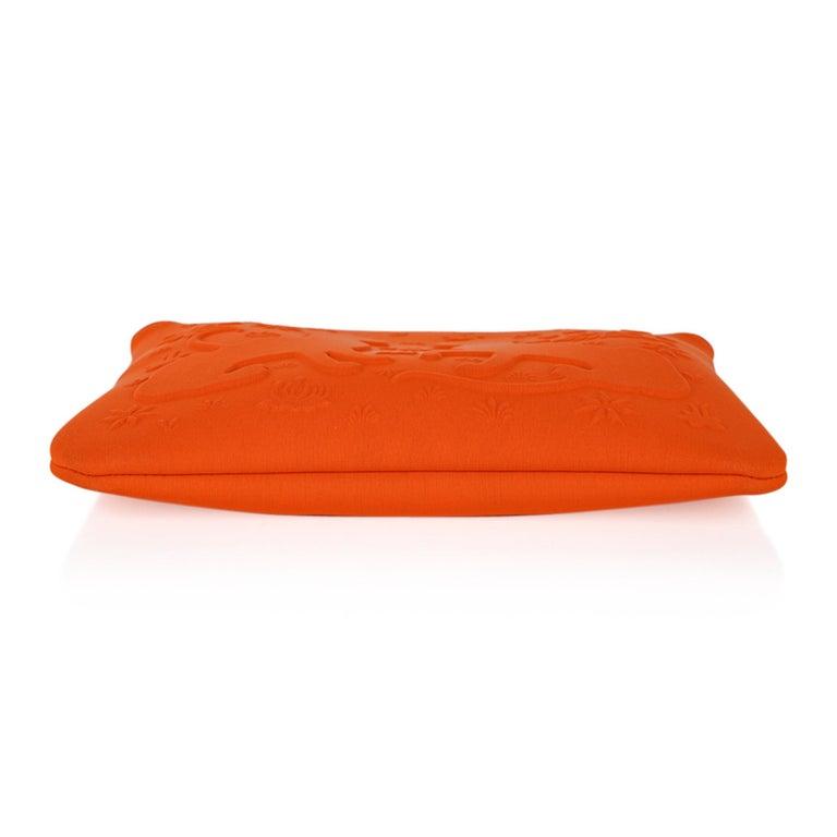 Hermes Neobain Les Leopard Embossed Orange Case  Small Model For Sale 4