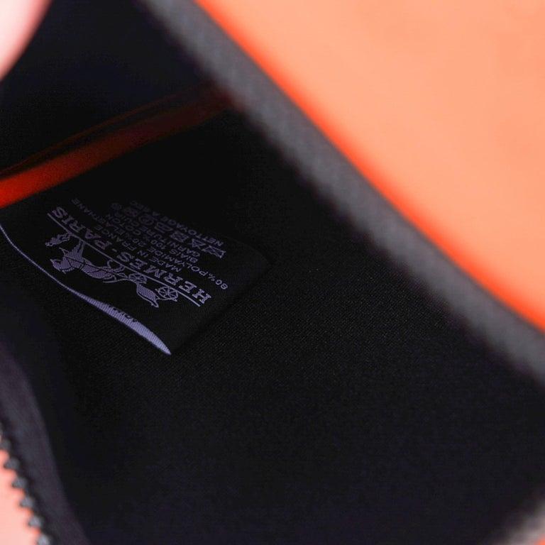 Hermes Neobain Les Leopard Embossed Orange Case  Small Model For Sale 5