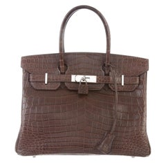 Hermes NEW Birkin 30 Crocodile Exotic Top Handle Satchel Tote Bag in Box