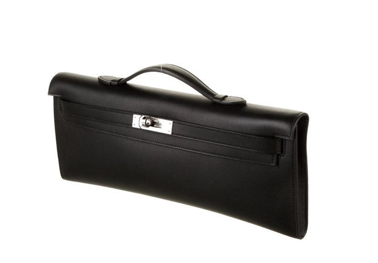 Leather Palladium plated hardware Leather lining  Turn-lock closure Made in France Top Handle 1