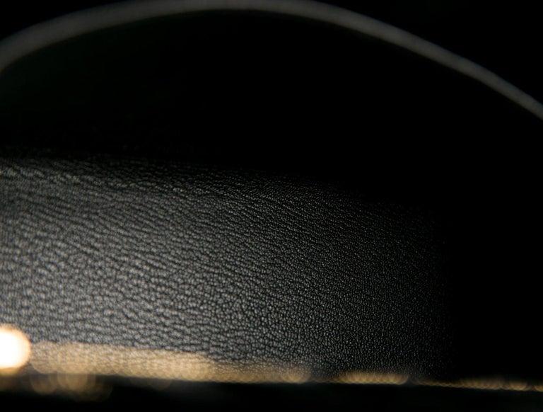 Hermes NEW Kelly 25 Black Leather Alligator Top Handle Tote Shoulder Bag For Sale 1