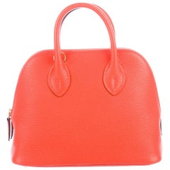 Hermes NEW Orange Leather Small Mini Top Handle Satchel Shoulder Bag in Box