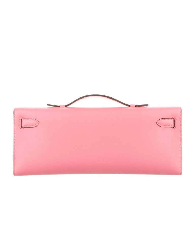 Hermes NEW Pink Kelly Evening Top Handle Clutch Bag in Box In New Condition In Chicago, IL