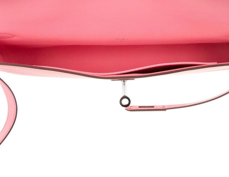 Women's Hermes NEW Pink Kelly Evening Top Handle Clutch Bag in Box