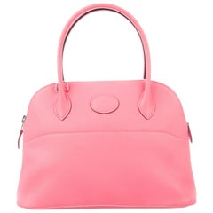 Hermes NEW Pink Leather Small Top Handle Satchel Tote Shoulder Bag in Box