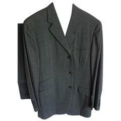 """HERMES """"New"""" Wool Dark Gray Men's Two Piece Suit - Unworn"""