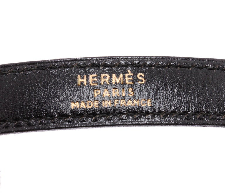 Black Hermes Noir Box Leather Kelly Sellier 32 Bag For Sale