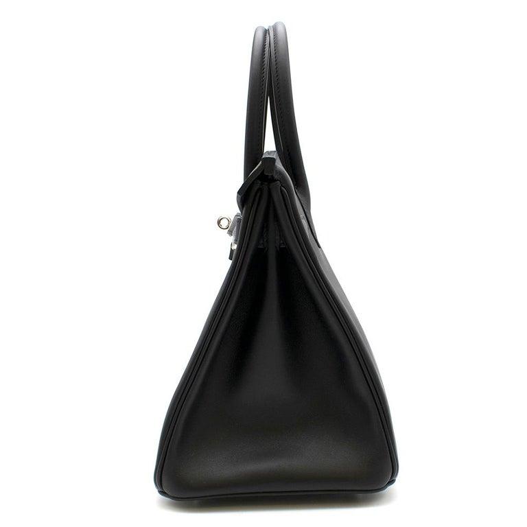Hermes Noir Jonathan Leather 30cm Birkin - Full Set For Sale 1