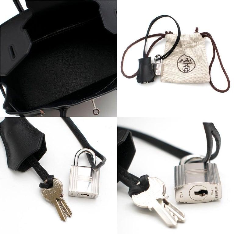 Hermes Noir Jonathan Leather 30cm Birkin - Full Set For Sale 2
