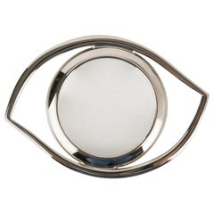 Hermes Oeil Magnifying Glass / Paperweight Palladium Eye of Cleopatra New