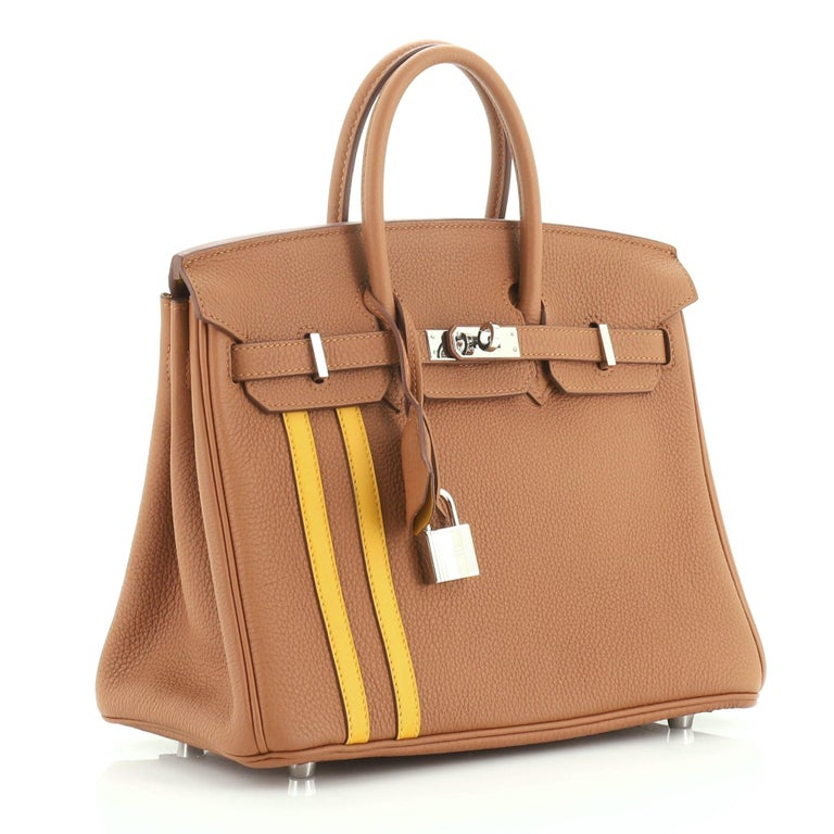 Hermes Officier Birkin Handbag Limited Edition Togo with Swift 30 In Good Condition For Sale In New York, NY