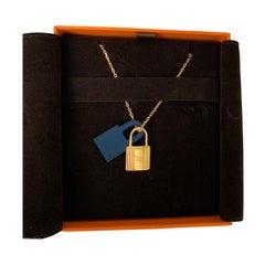 Hermes O'Kelly pendant, small model Blue Gold