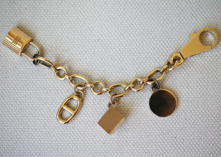 Hermès Olga Permabrass Gold Bag Charm In Good Condition For Sale In London, GB