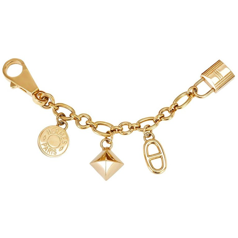 Hermès Olga Permabrass Gold Bag Charm For Sale