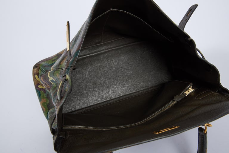 Hermes Olive Green Camouflage Kelly 35 6